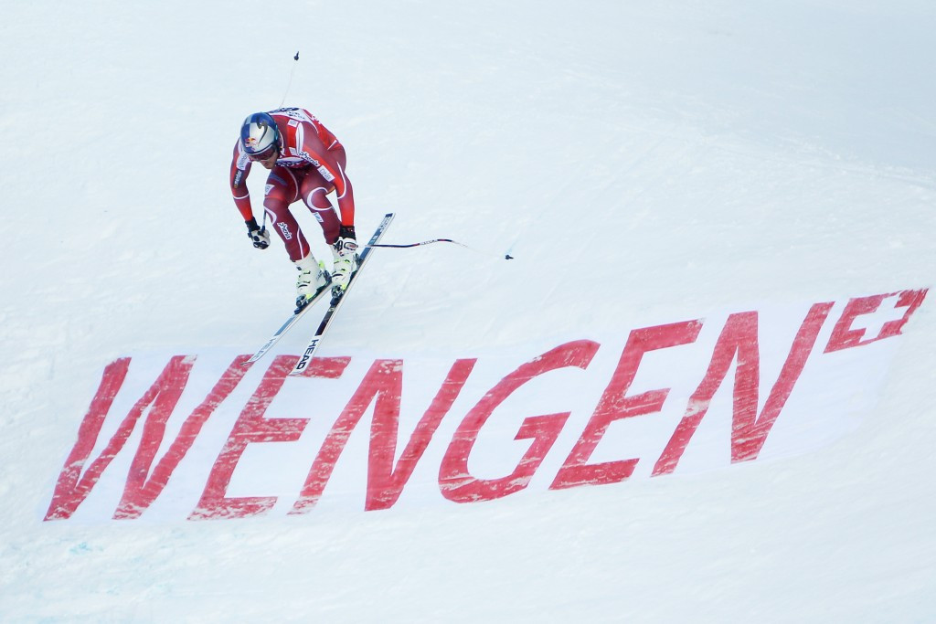 Svindal takes overall World Cup lead after downhill joy in Wengen