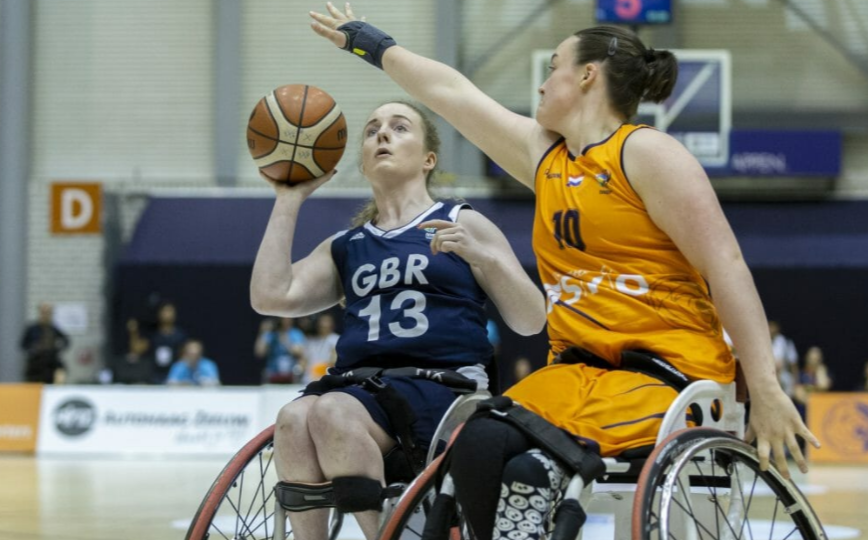 Siobhan Fitzpatrick, pictured in action for Britain, is eagerly awaiting the Commonwealth Games debut of 3x3 wheelchair basketball at Birmingham 2022 ©paralympic.org