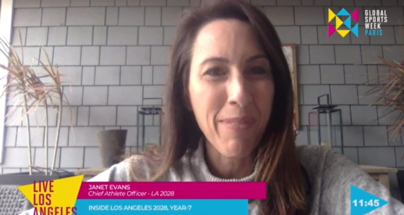 """Los Angeles 2028 chief athlete officer Janet Evans has told GSW Paris that athletes will be """"encouraged"""" to stand up for their beliefs during the Games ©GSW"""