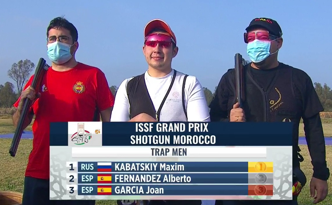Russian pair Kabatskiy and Subbotina win trap titles at ISSF Grand Prix in Rabat