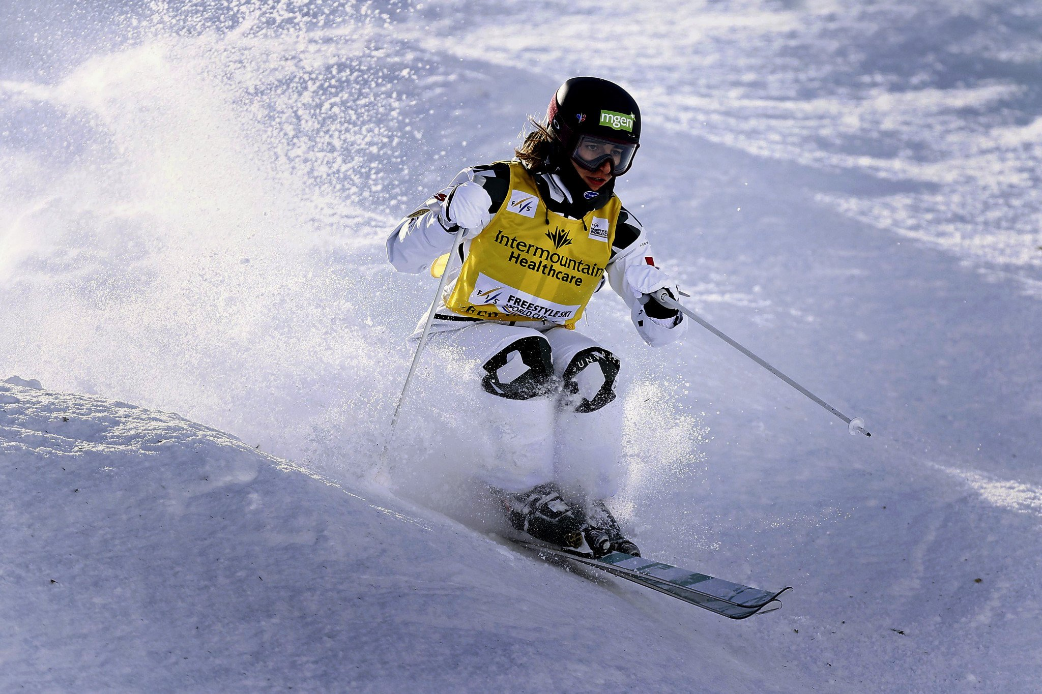 Perrine Laffont has won all four World Cup moguls and dual moguls events so far this season ©Getty Images