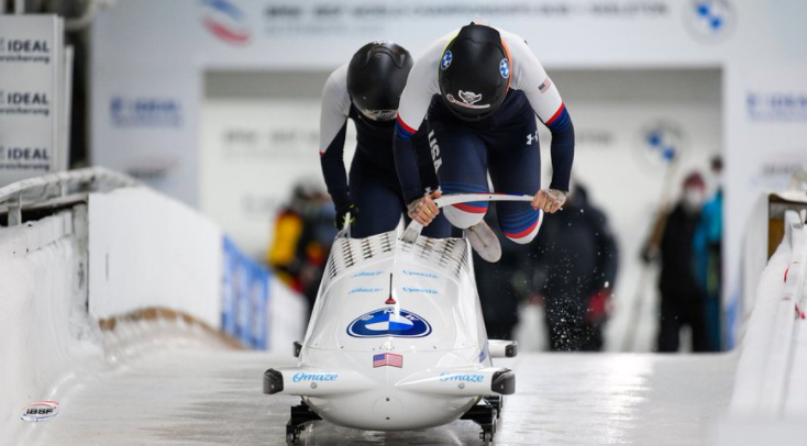 Humphries ahead at halfway stage of two-woman bobsleigh world title defence in Altenberg