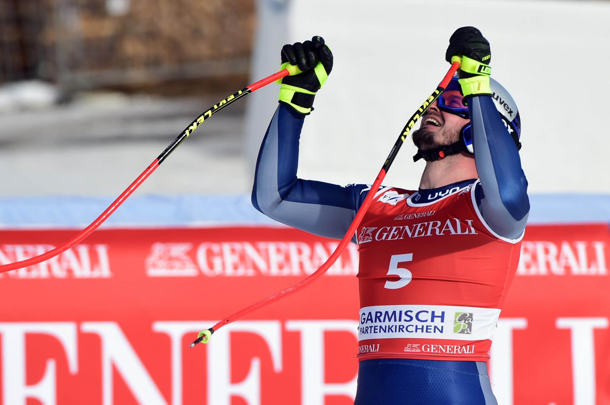 Paris wins Garmisch-Partenkirchen downhill prior to Alpine World Ski Championships
