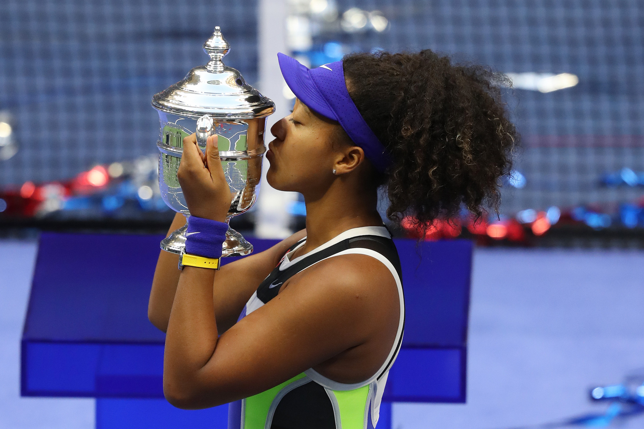 Naomi Osaka won a second US Open title in New York this year ©Getty Images