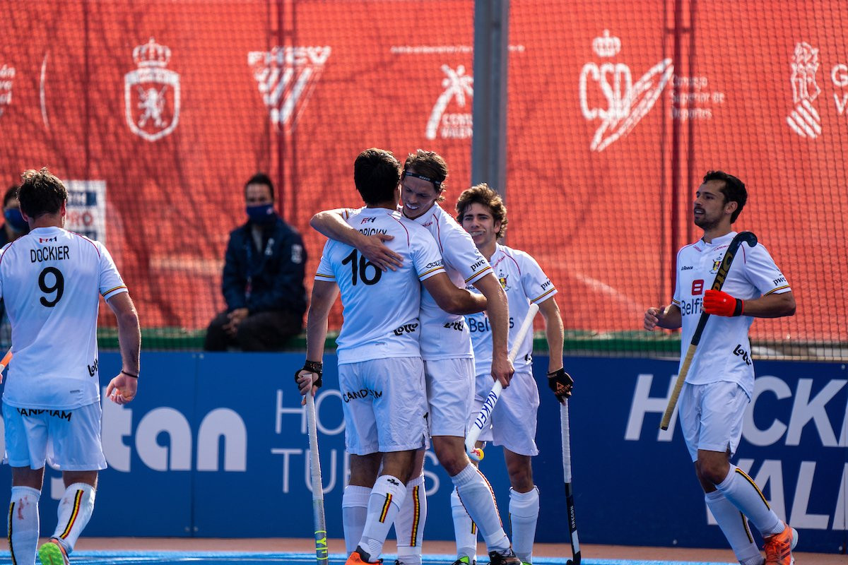 Belgium beat Spain in Valencia for the second day in a row ©FIH