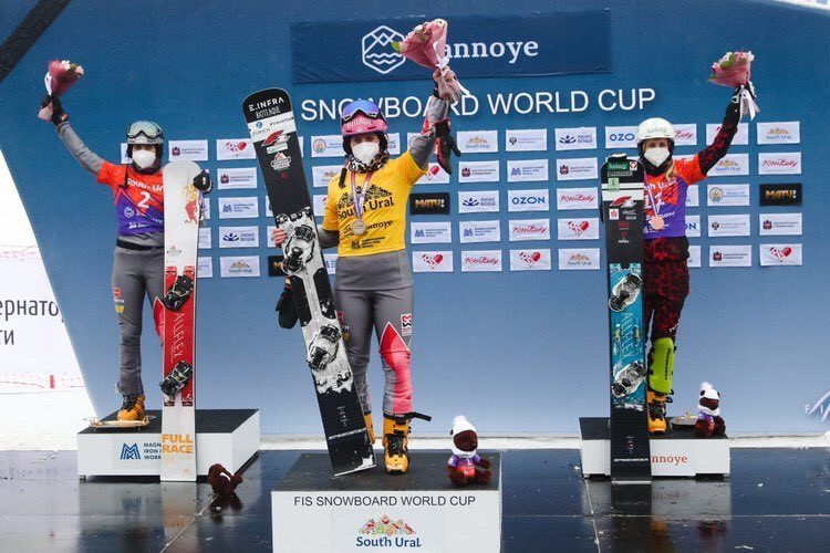 Hofmeister glides on but Karl slips back as Russia's Loginov wins Snowboard World Cup on home course