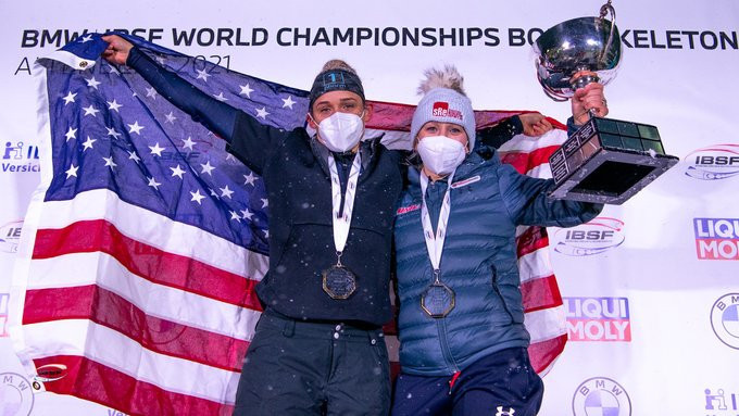 Humphries makes history with fourth women's world bobsleigh title as Friedrich tees up seventh gold