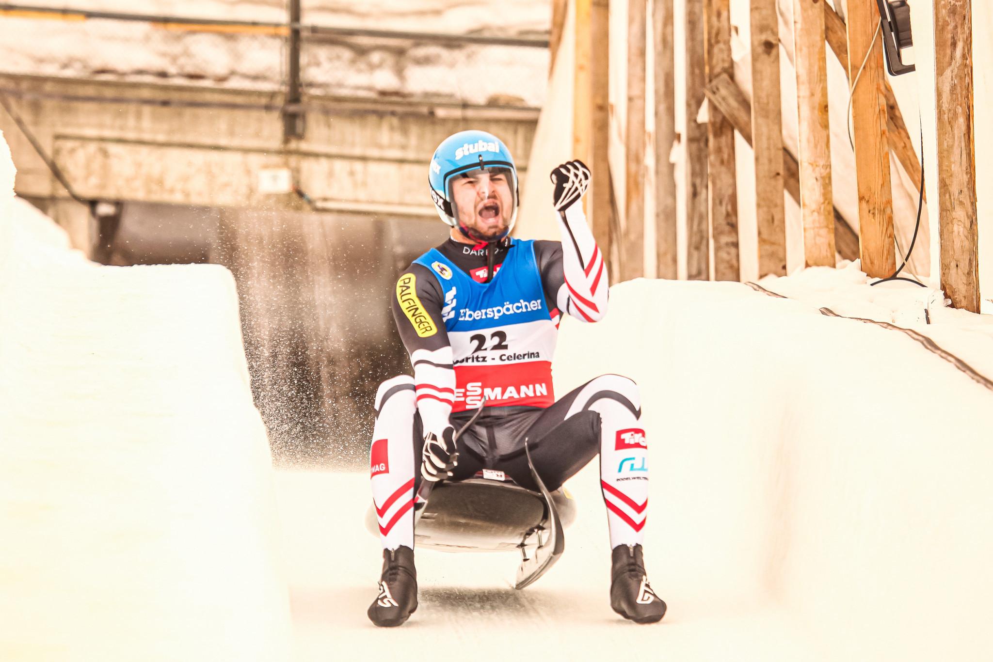 Gleirscher ends Loch's winning streak at Luge World Cup in St Moritz