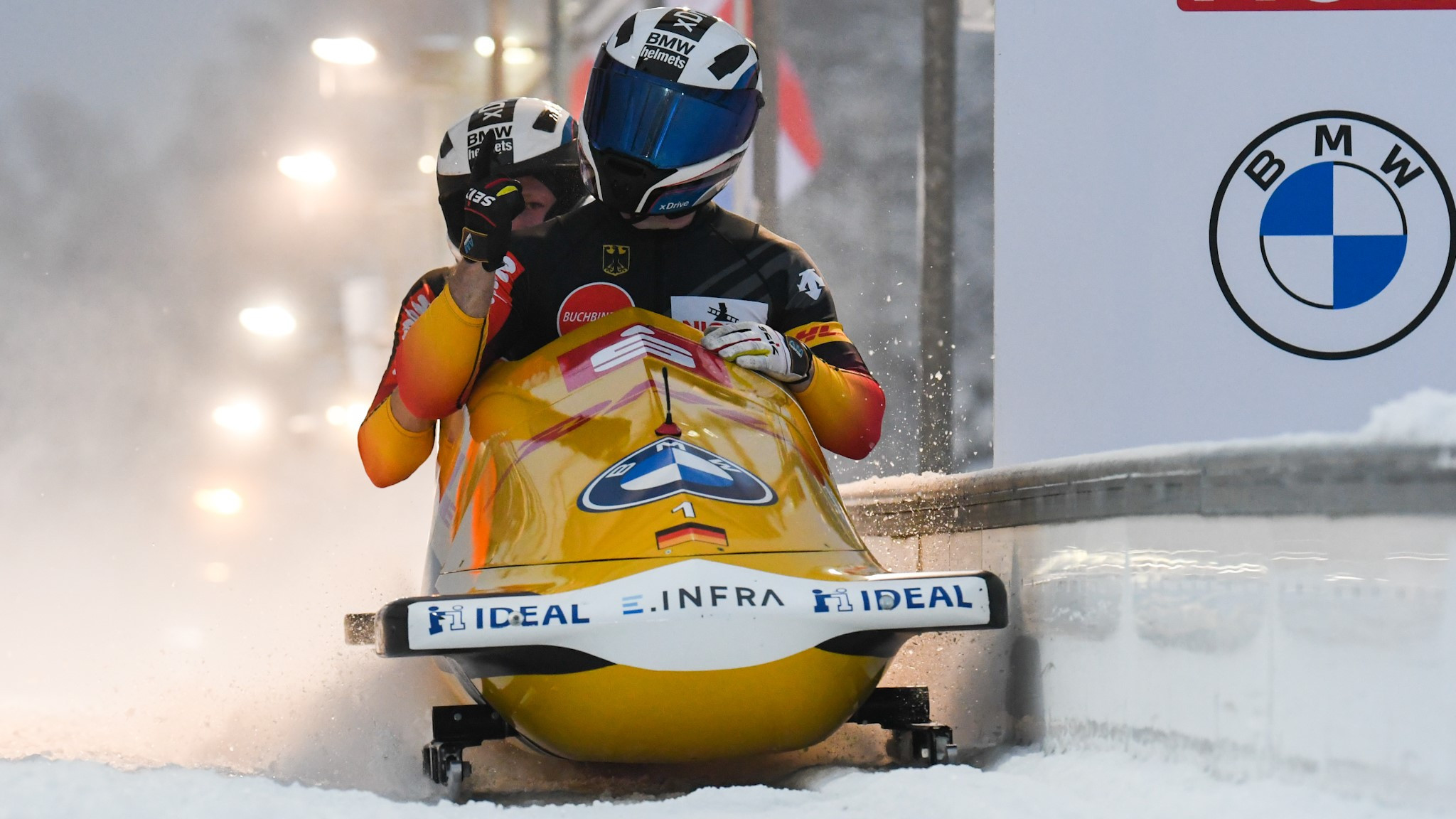 Friedrich breaks 55-year record with two-man bobsleigh gold at IBSF World Championships