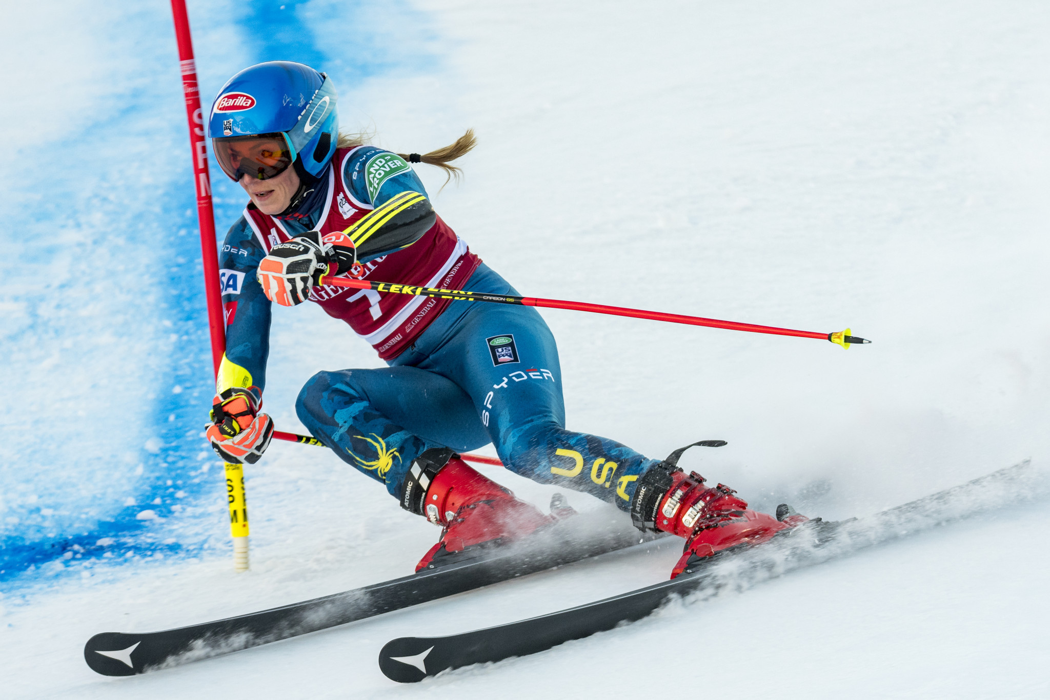 America's Mikaela Shiffrin remains Petra Vlhova's main rival in the slalom ©Getty Images