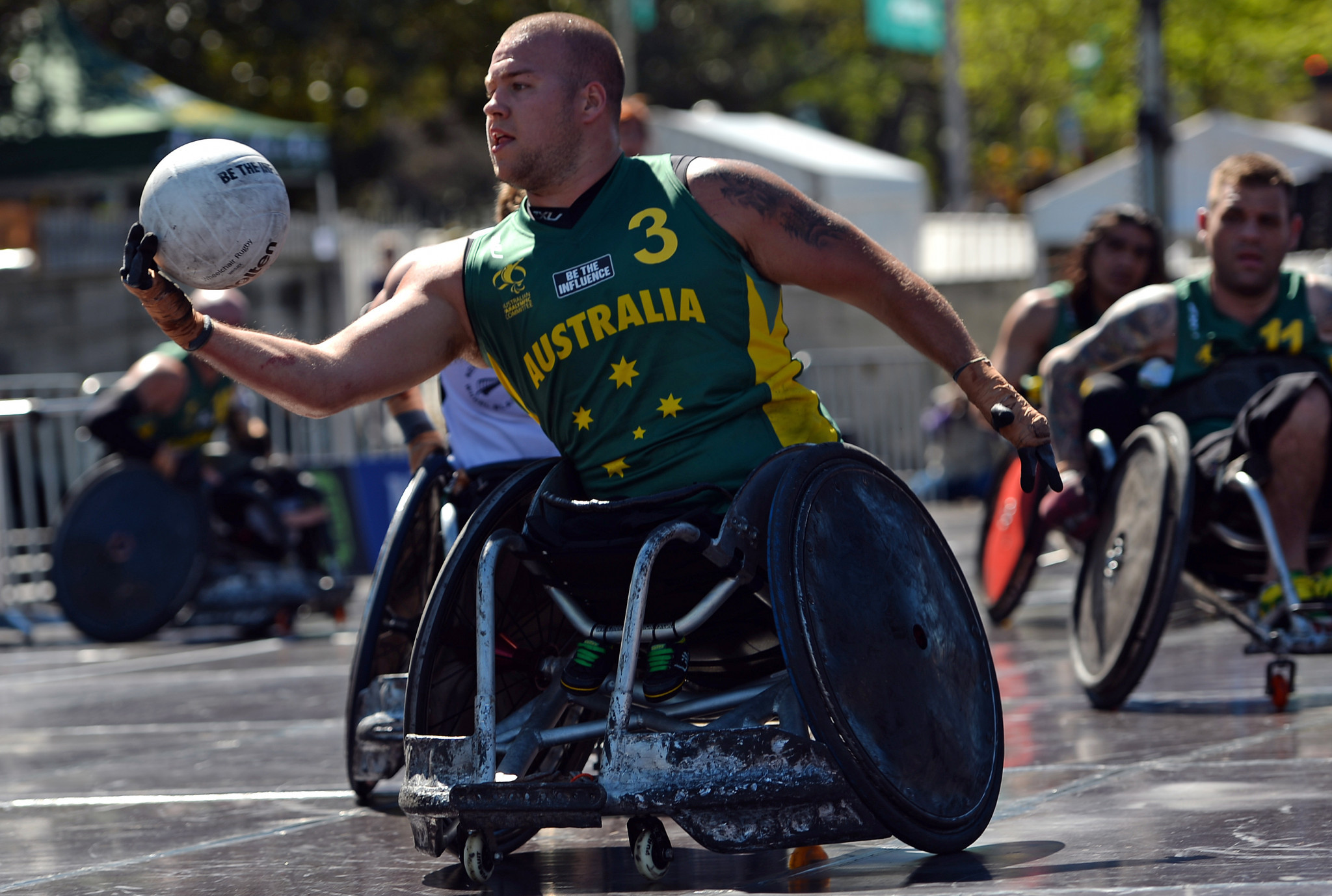 """Australian wheelchair rugby player Ryley Batt said he would not """"skip the line"""" to receive the COVID-19 vaccine ©Getty Images"""