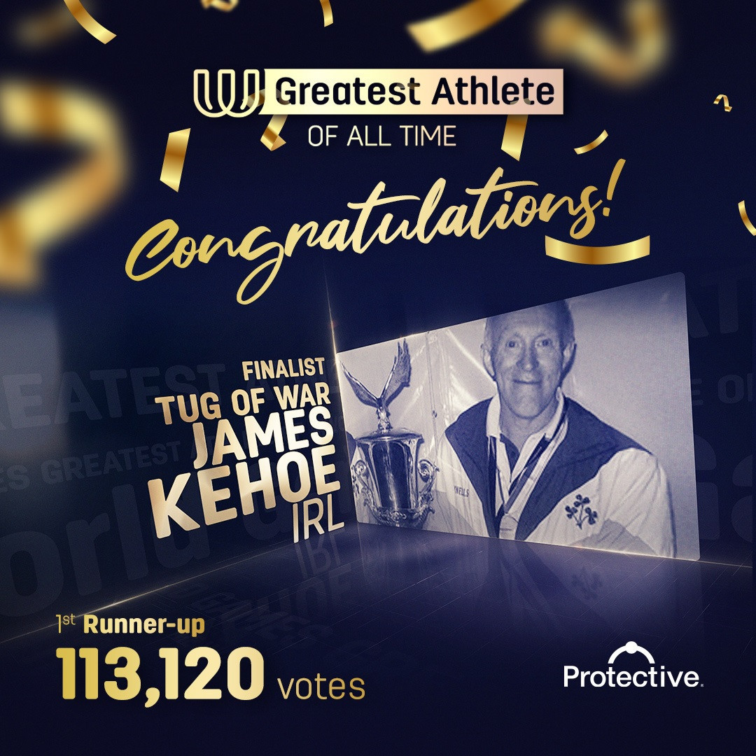 Kehoe stunned after finishing as World Games Greatest Athlete of All Time runner-up