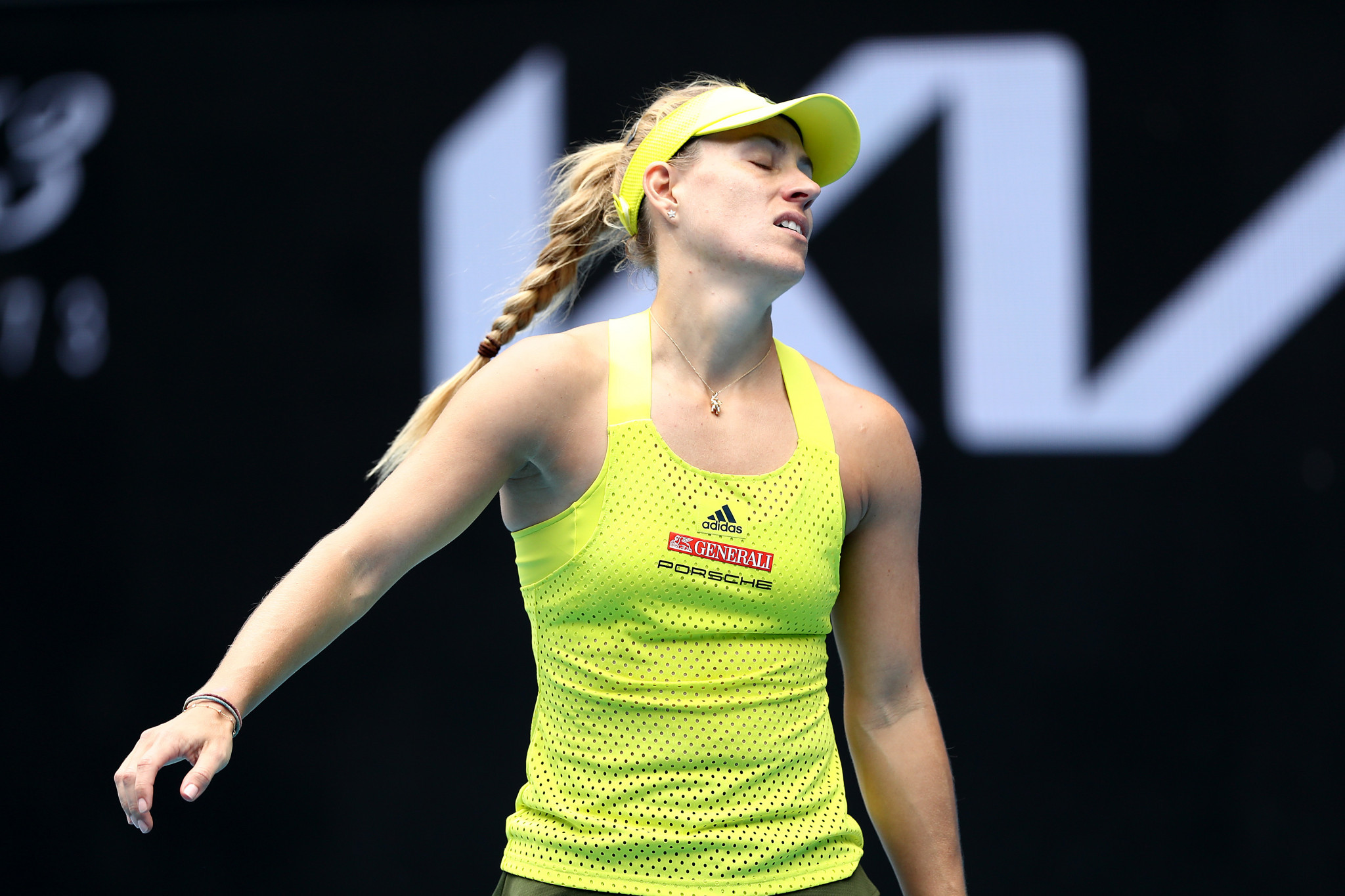 Angelique Kerber suffered a crushing first-round loss to Bernarda Pera ©Getty Images