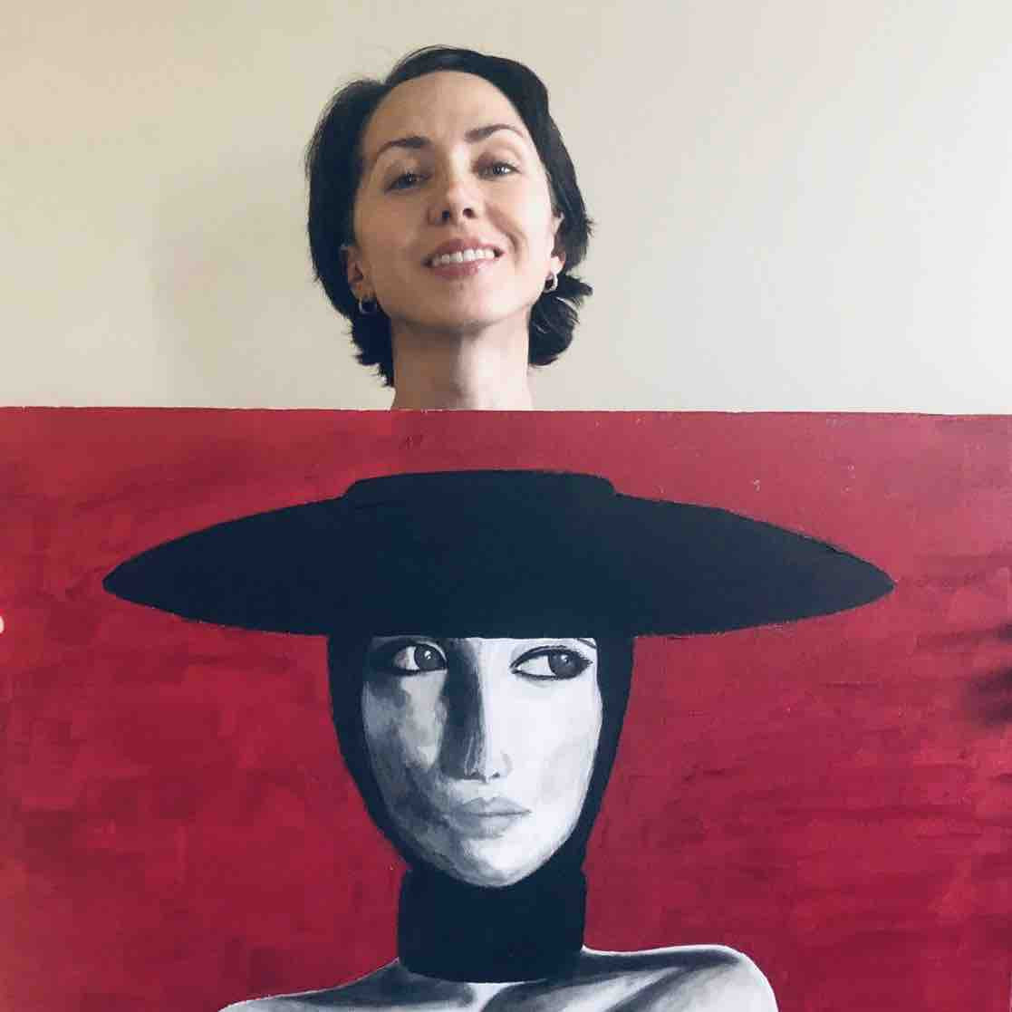 Olga Sevastianova revealed she can use her injured hand to draw and cook ©GoFundMe