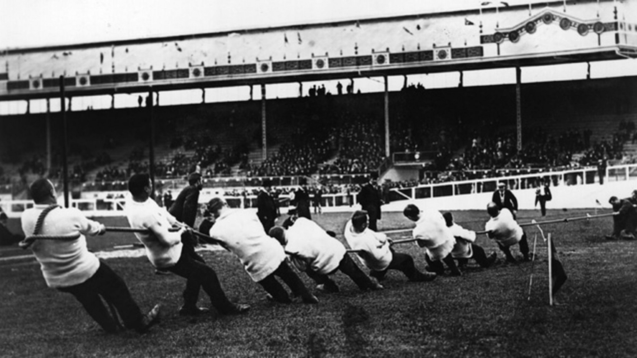 Tug of war appeared in every Olympic Games from Paris 1900 to Antwerp 1920 ©Getty Images