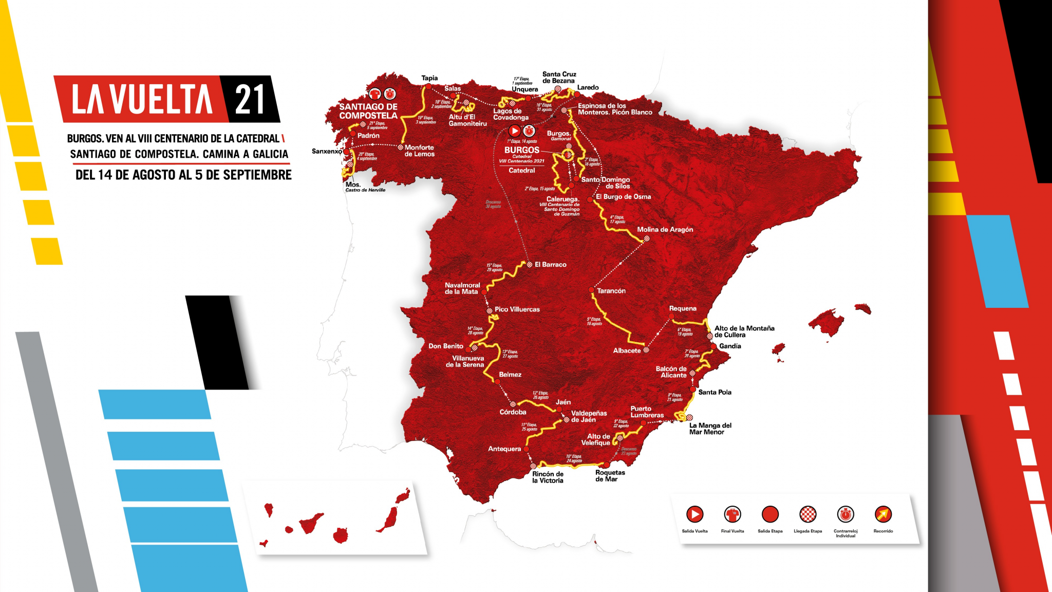 The route for the 2021 Vuelta a España has been revealed ©La Vuelta