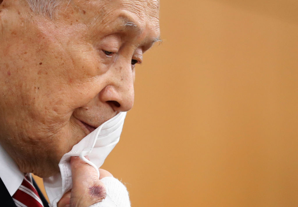 Yoshirō Mori announced his resignation today ©Getty Images