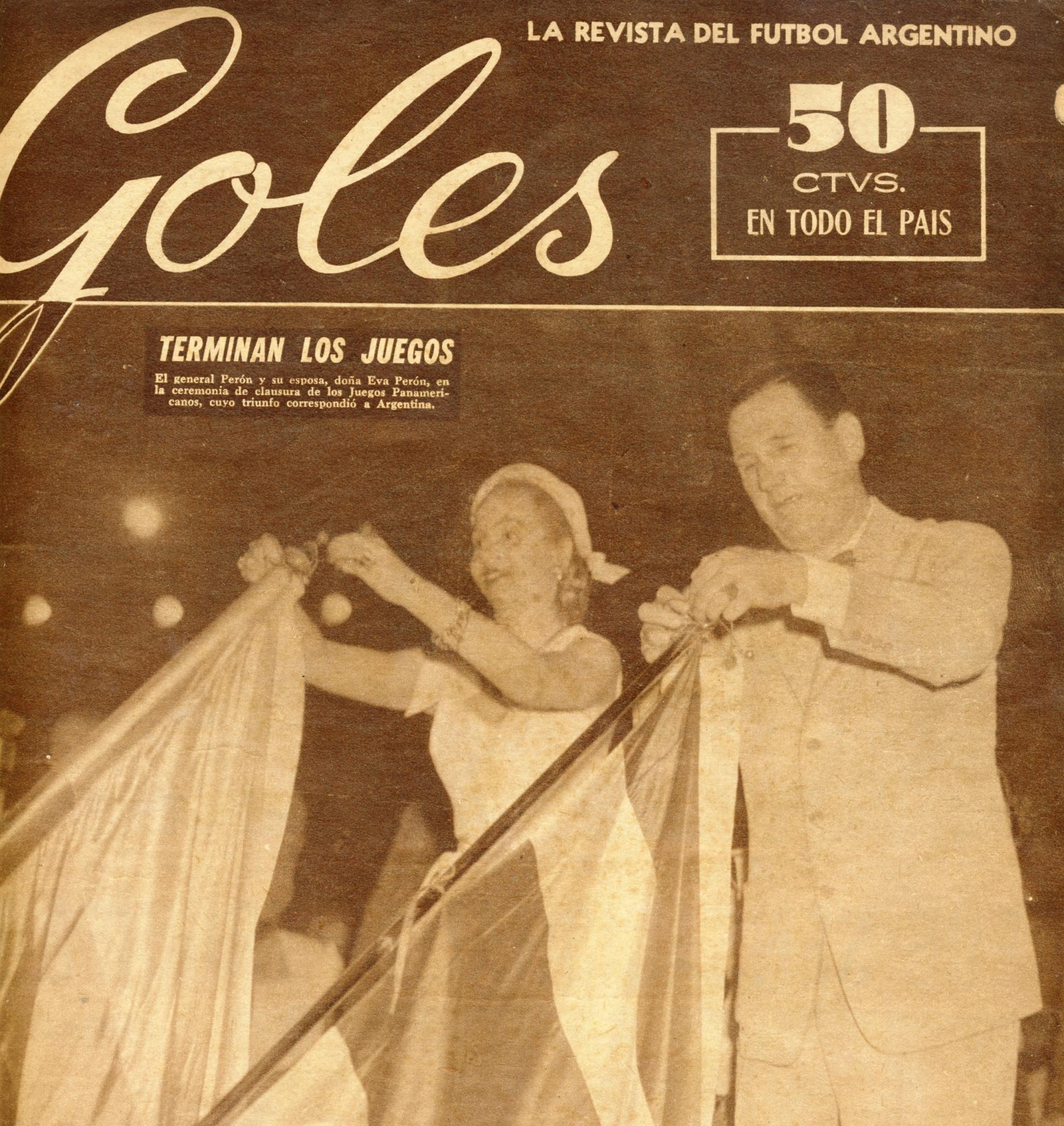 El coronel Juan Domingo Perón, a la derecha, fue presidente de Argentina durante los Juegos © Mundo Deportivo