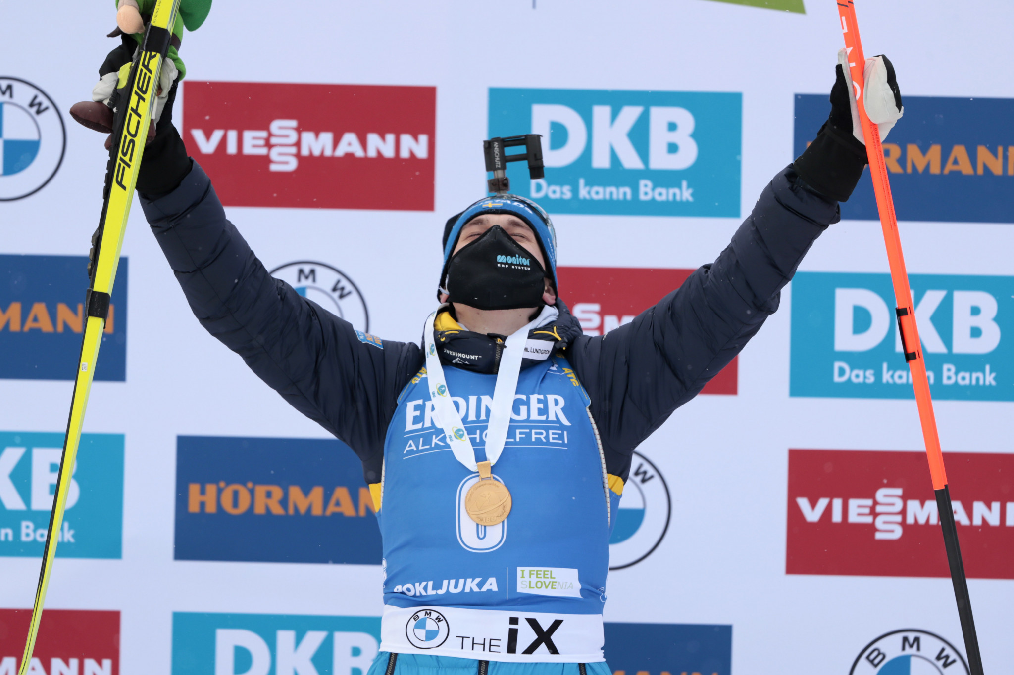 Sweden's Ponsiluoma clinches men's sprint gold at IBU World Championships