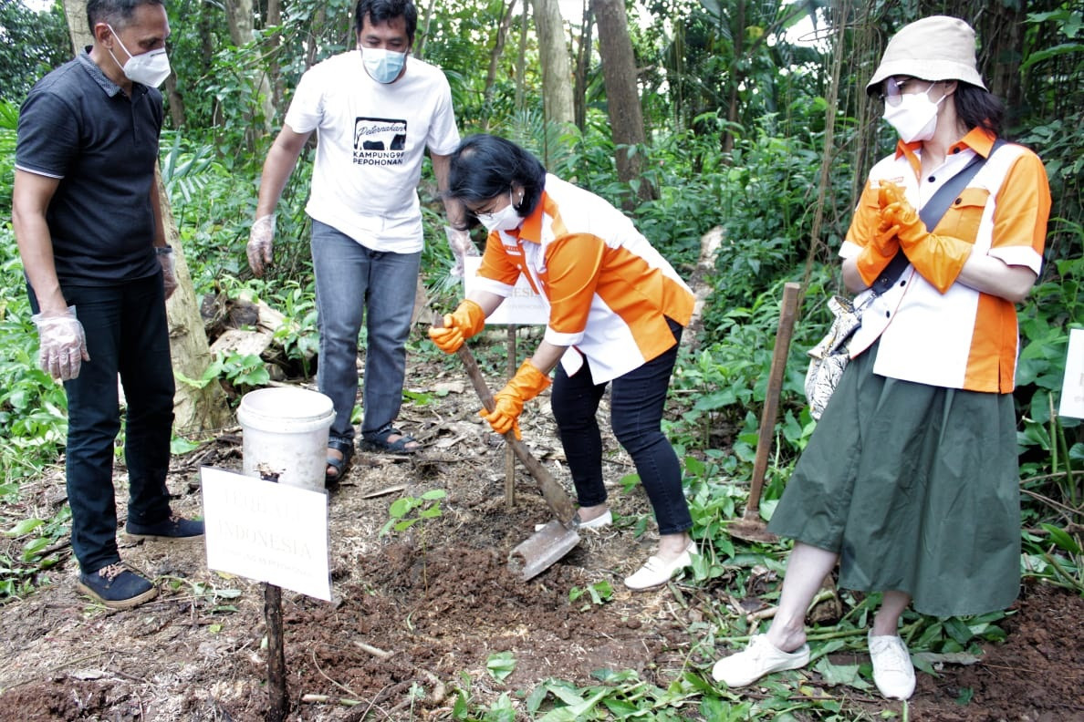 The Indonesian Teqball Federation hopes the tree-planting project will prevent flooding in Depok ©FITEQ