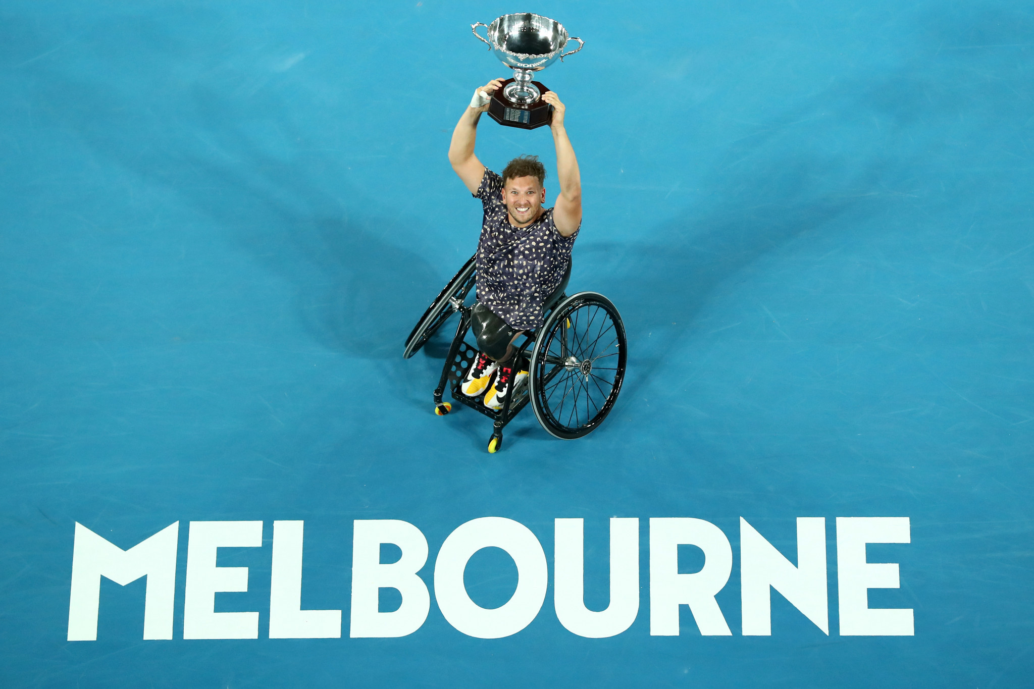 Dylan Alcott is attempting to win a seventh consecutive quad singles crown in Melbourne ©Getty Images