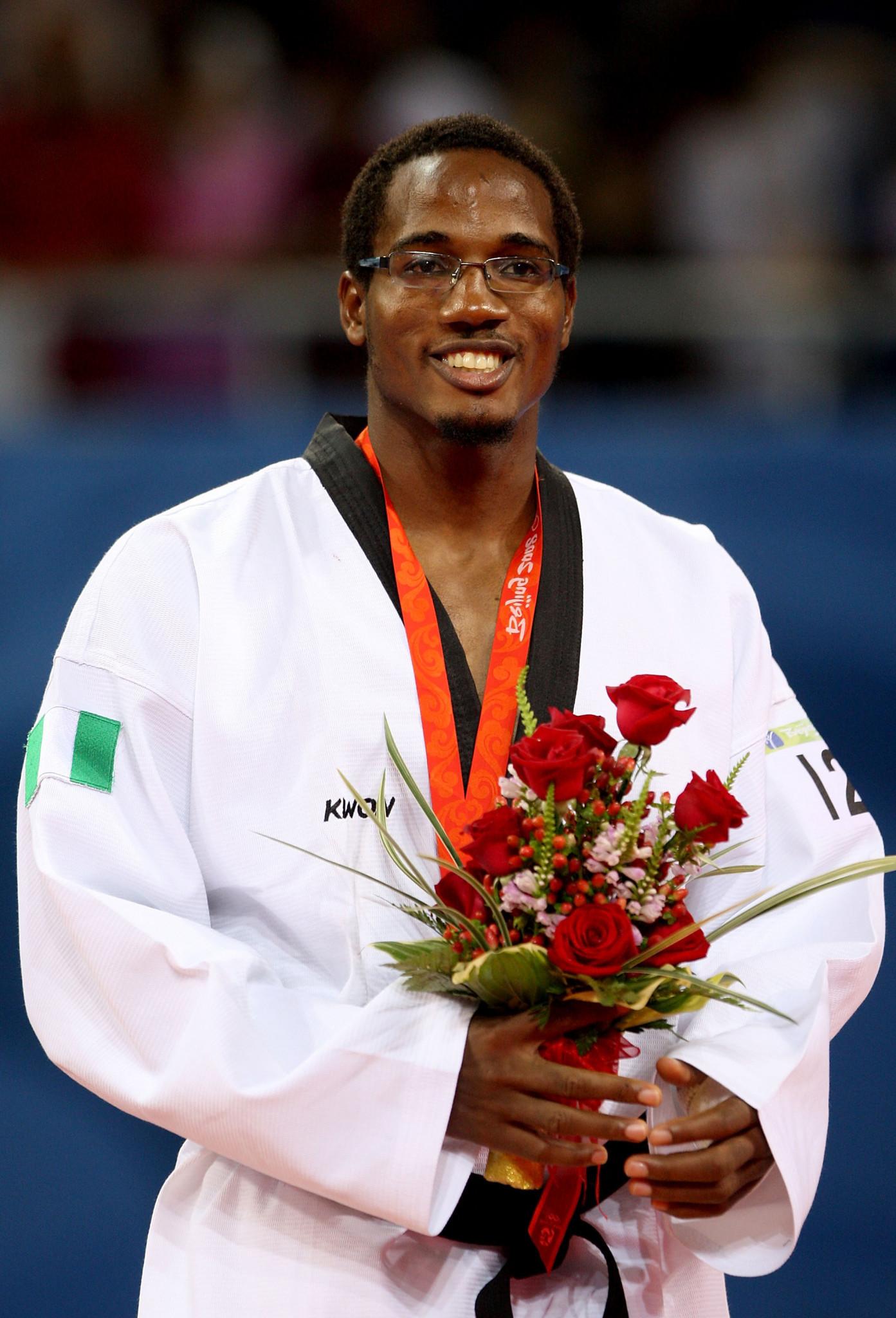 Chika Chukwumerije won Olympic bronze for Nigeria at Beijing 2008 ©Getty Images