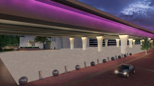 The project is planned for under interstate bridges ©ALDOT