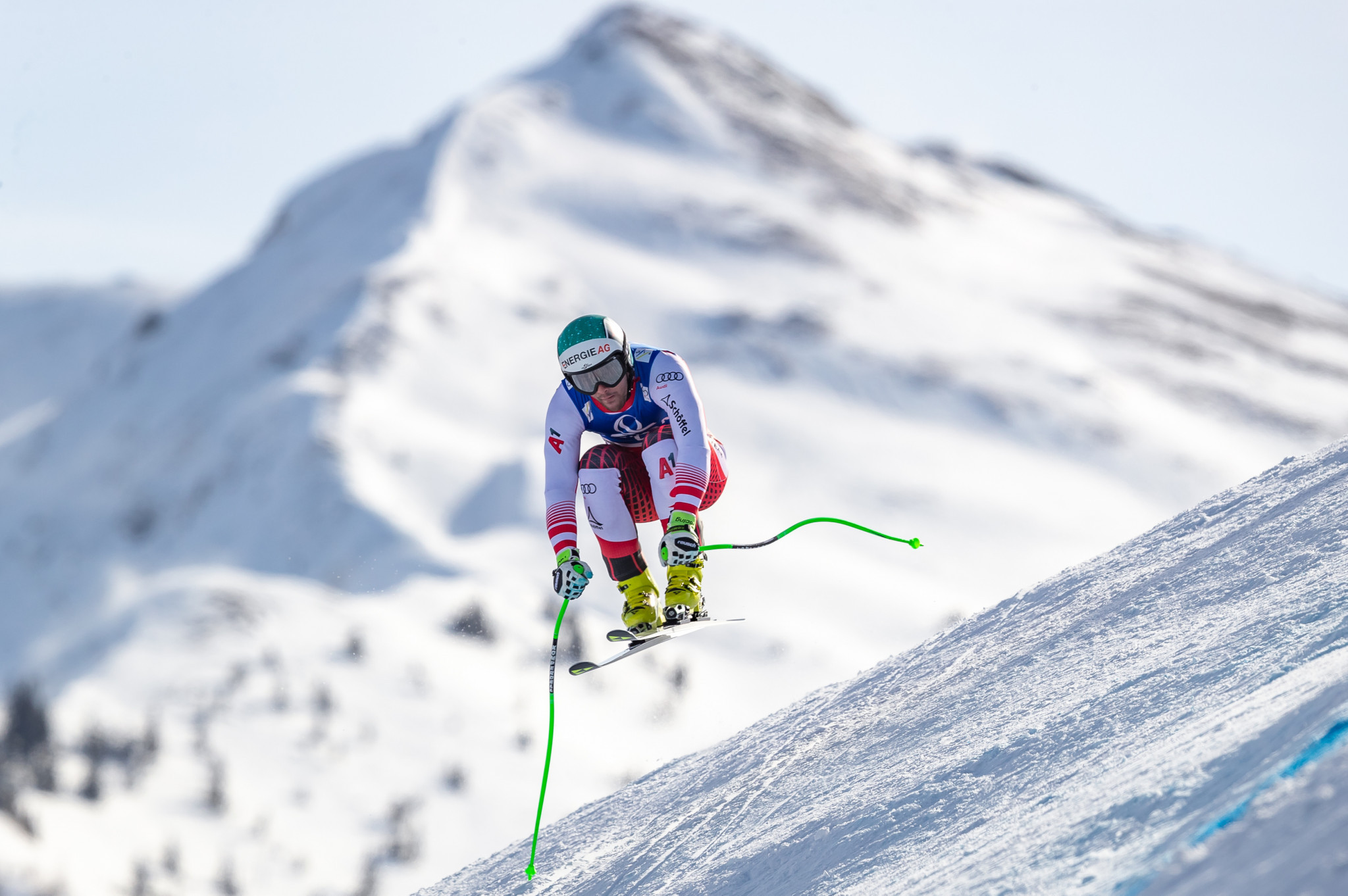Vincent Kriechmayr, who leads the World Cup super-G standings and is the new world champion in the discipline, is set to race on home snow in Saalbach ©Getty Images
