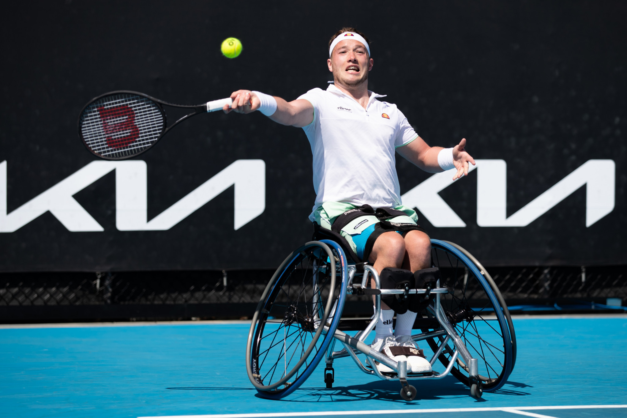 Britain's Alfie Hewett is through to a first Australian Open men's wheelchair singles final ©Getty Images