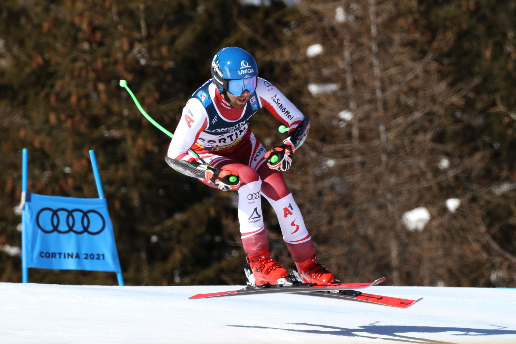 Austria's Marco Schwarz was the victor in the men's Alpine combined contest ©Getty Images
