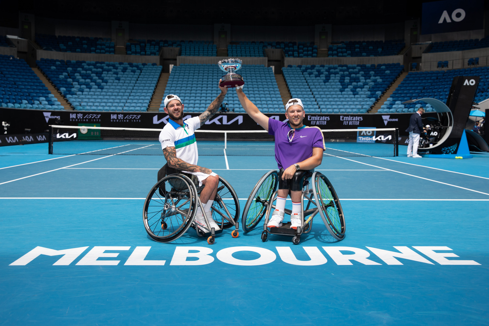 Alcott and Davidson secure fourth successive Australian Open quad doubles crown