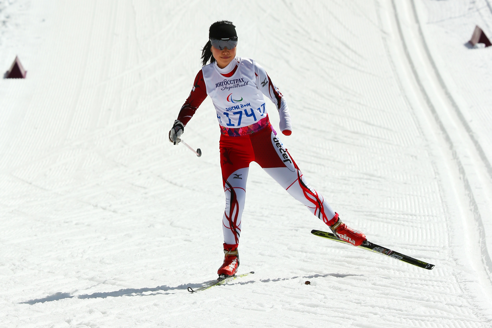 Shoko Ota is a two-time Paralympic medallist on skis ©Getty Images