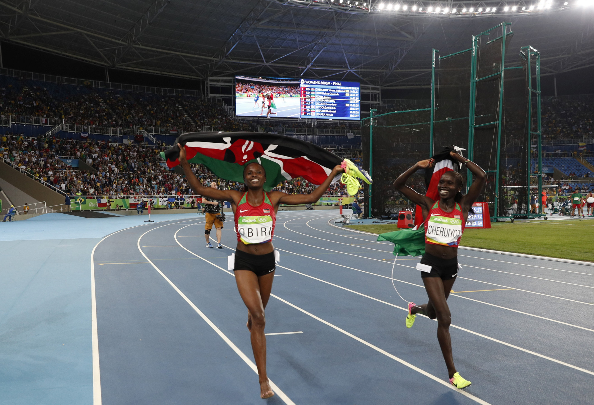 One of the highlights of Kenya from Rio 2016 was the double victory in the women's 5,000 meters - Hellen Obiri (left) took silver and Vivian Cheruiyot took gold © Getty Images