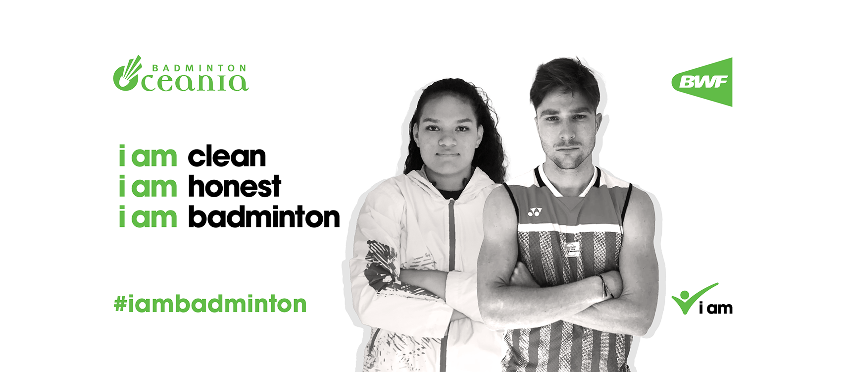 "Remi Rossi and Dgeniva Matauli have been named as regional ambassadors for the ""i am badminton"" campaign ©BWF"
