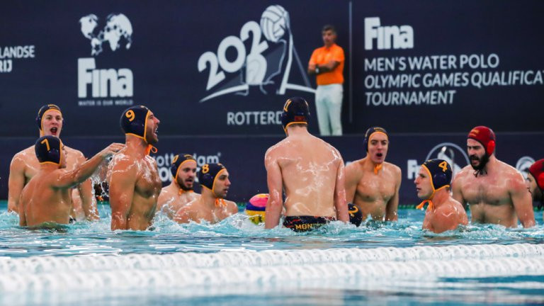 Montenegro and Croatia top groups as men's Olympic water polo qualification tournament continues