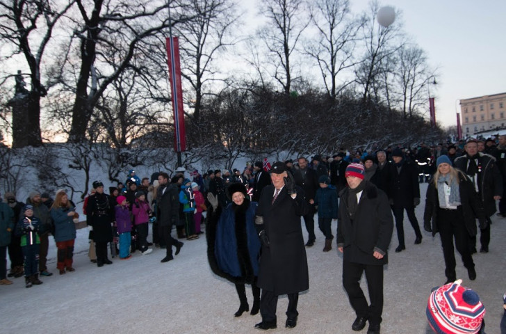 The Torch Relay coincided with the 25th anniversary celebrations of Queen Sonja and King Harald V as regents of Norway