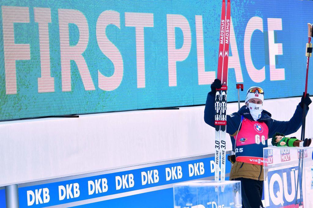Lægreid surges to individual gold at IBU World Championships