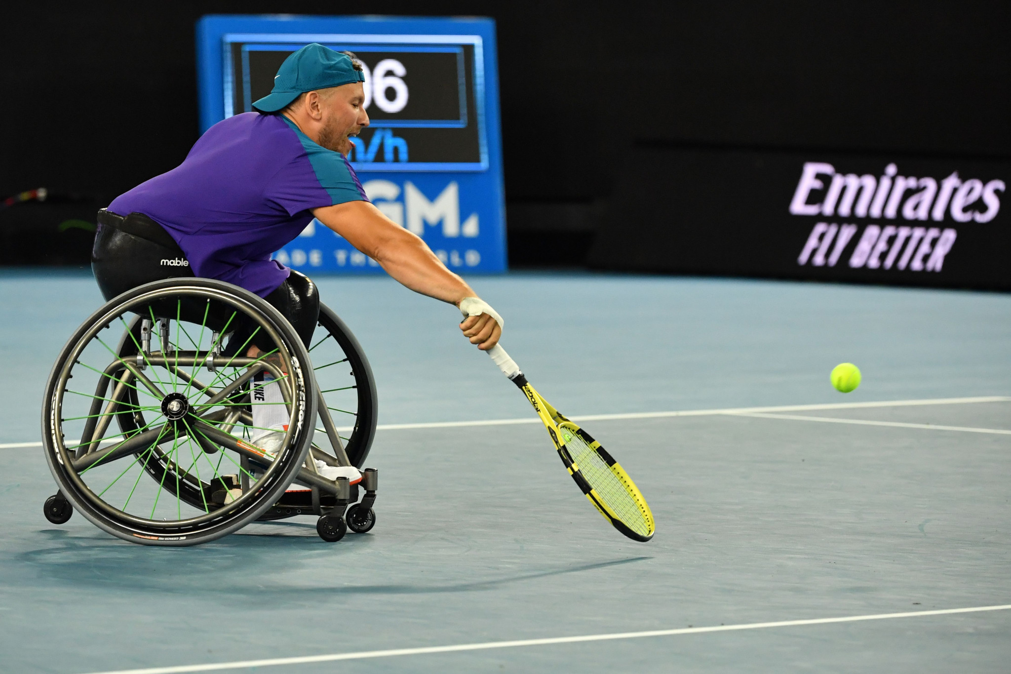 The quad singles final featured Australia's Dylan Alcott and Netherlands' Sam Schroder ©Getty Images