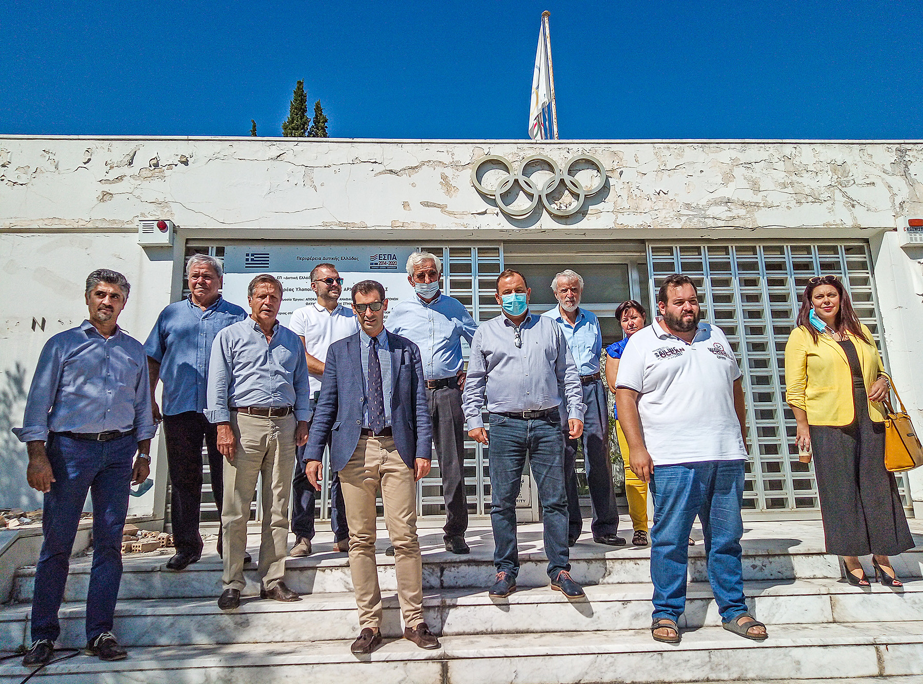 Municipality of Olympia officials recently visited the Museum of the Modern Olympics ©Municipality of Olympia