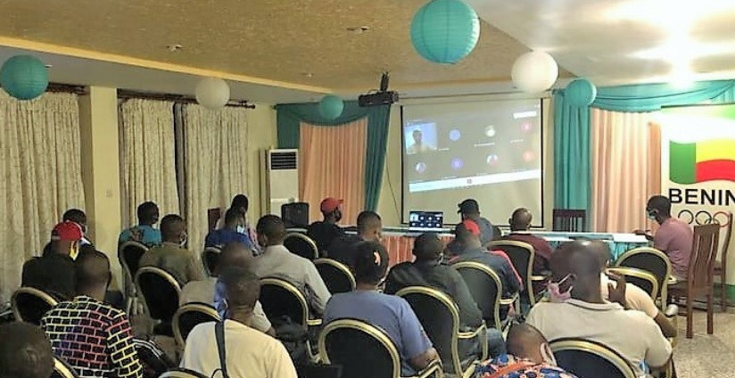 The WBSC helped organise the webinar for officials in Benin