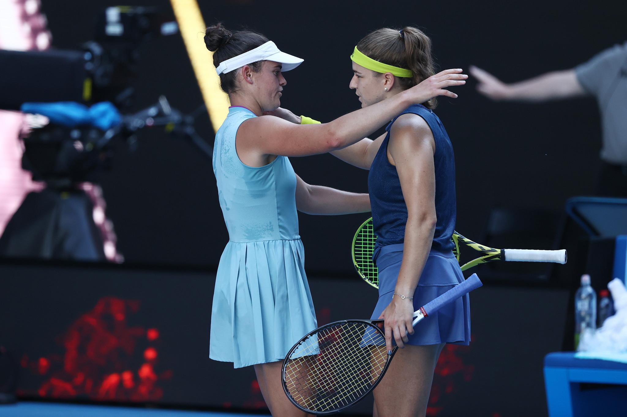 Jennifer Brady overcame the Czech Republic's Karolina Muchova in three sets ©Getty Images