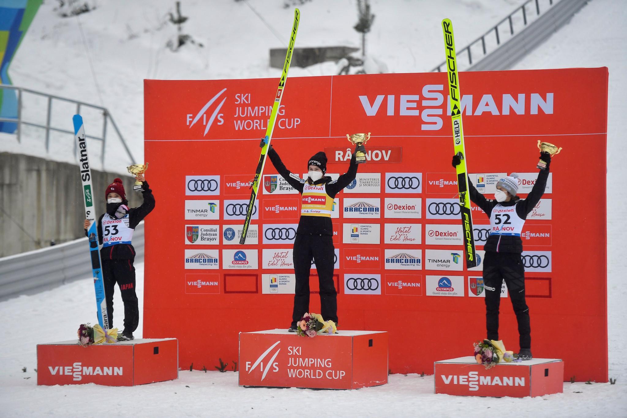 Križnar wins first Ski Jumping World Cup in Râșnov after faulty COVID-19 test sidelines leader Kramer