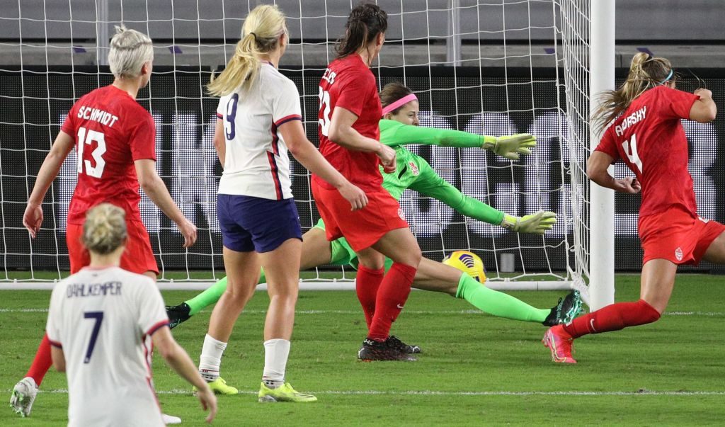 The United States beat Canada 1-0 thanks to Rose Lavelle's strike 11 minutes from time ©Getty Images