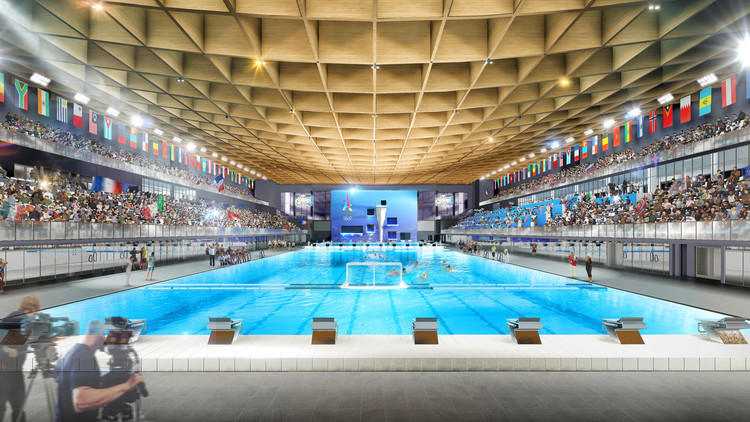 Swimming will now be staged in a temporary pool within the La Défense Arena following changes proposed by Paris 2024 ©Paris 2024