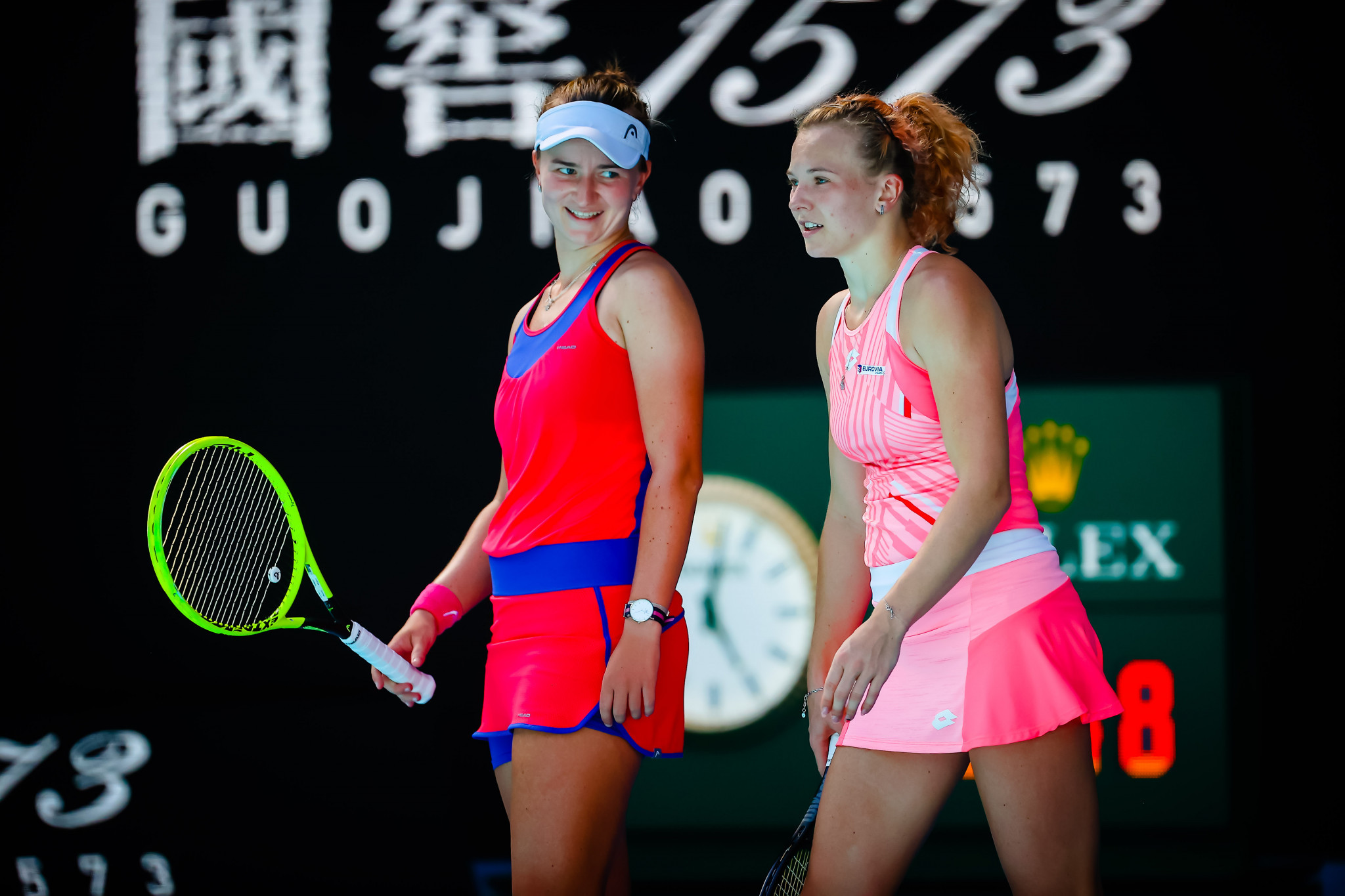 Czech Republic's Barbora Krejcikova and Katerina Siniakova competed in the women's doubles final ©Getty Images