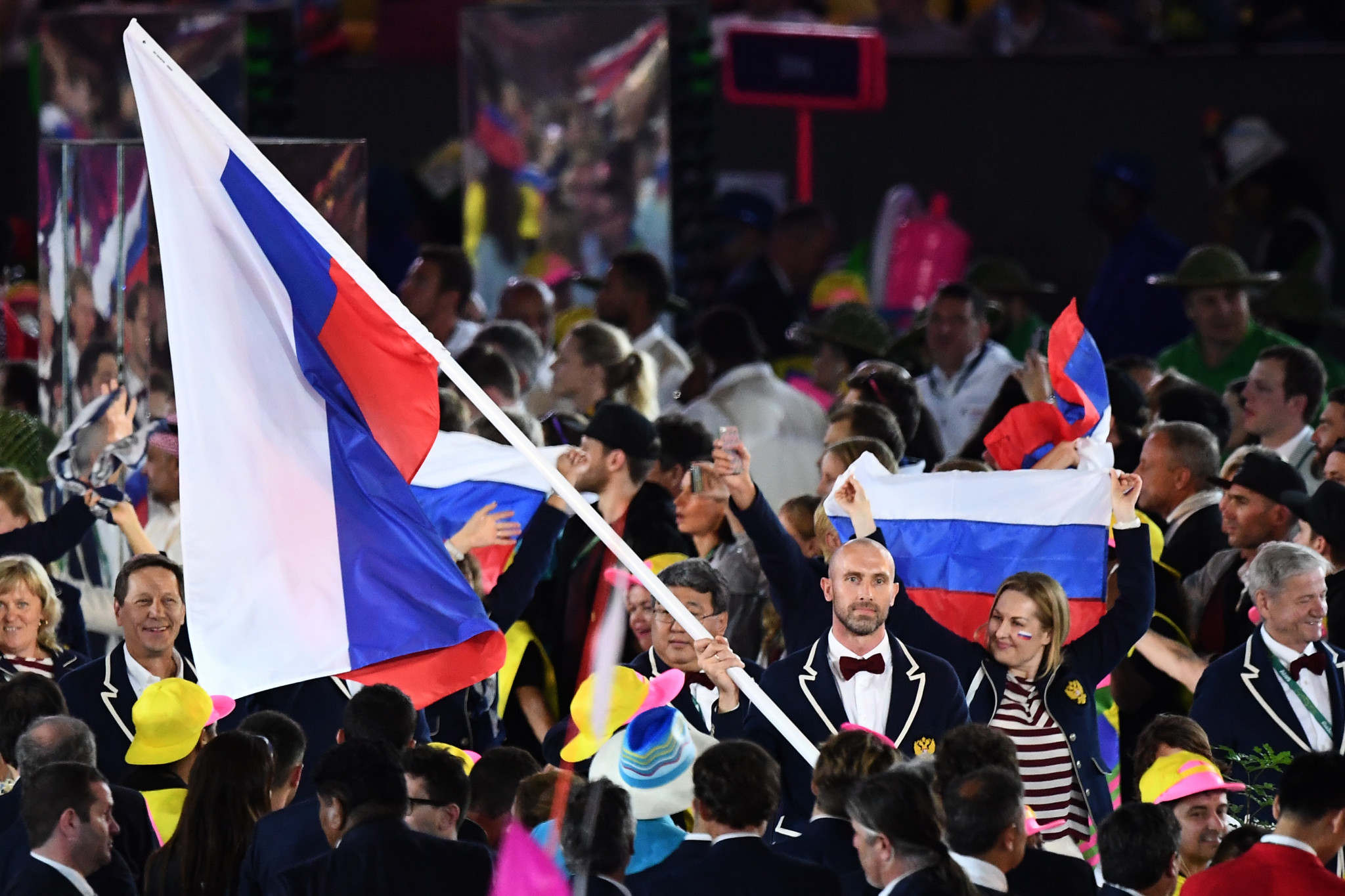 The Russian flag will not be allowed to be displayed at an Olympic Games and World Championships that falls during the period when the sanctions are in force ©Getty Images