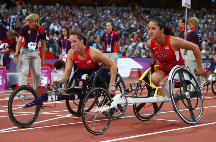 Hannah McFadden (right), the younger sister of Tatyana McFadden (left), will be aiming for gold in the women's 800m T54 event