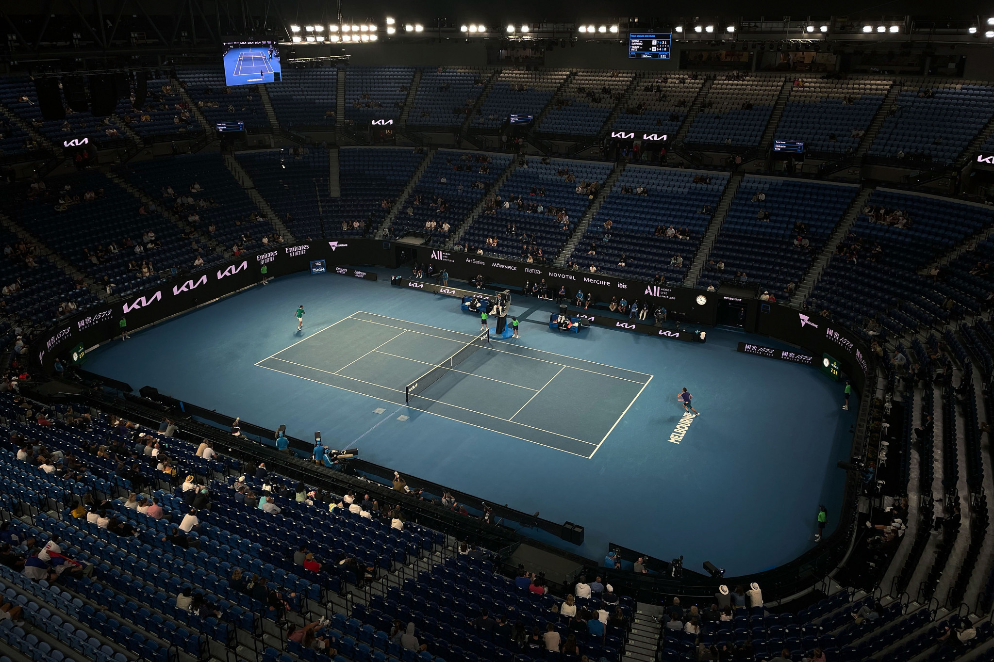 The Australian Open has taken place with limited, and at times no spectators due to COVID-19 restrictions ©Getty Images