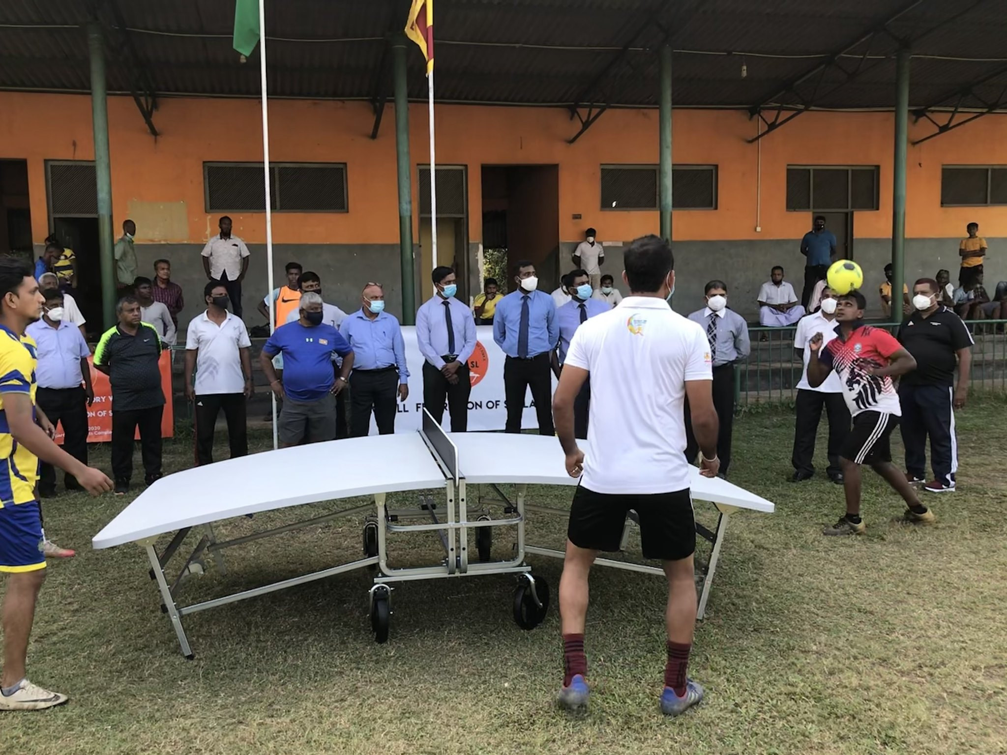 The Sri Lanka National Federation recently received 50 teqball tables ©FITEQ