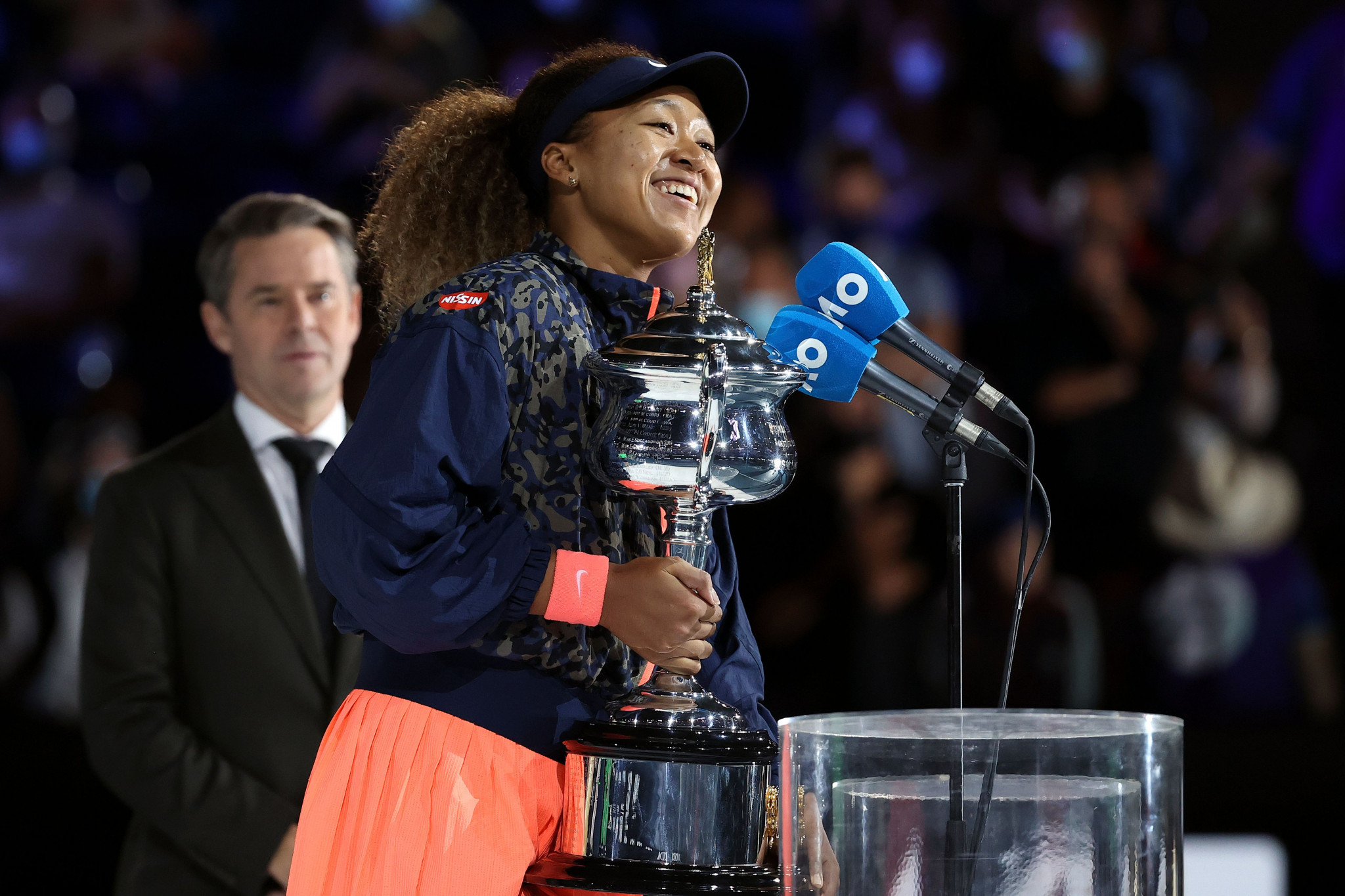 Naomi Osaka said she was thankful for the crowd after winning the US Open behind closed doors ©Getty Images